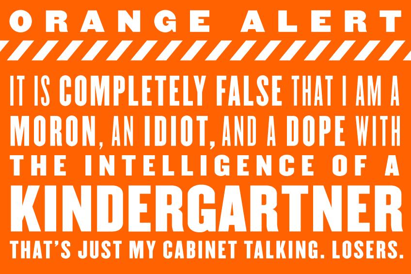 Orange-Alert-Kindergarten