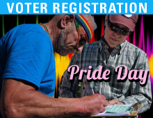 Registering Voters: Pride Day