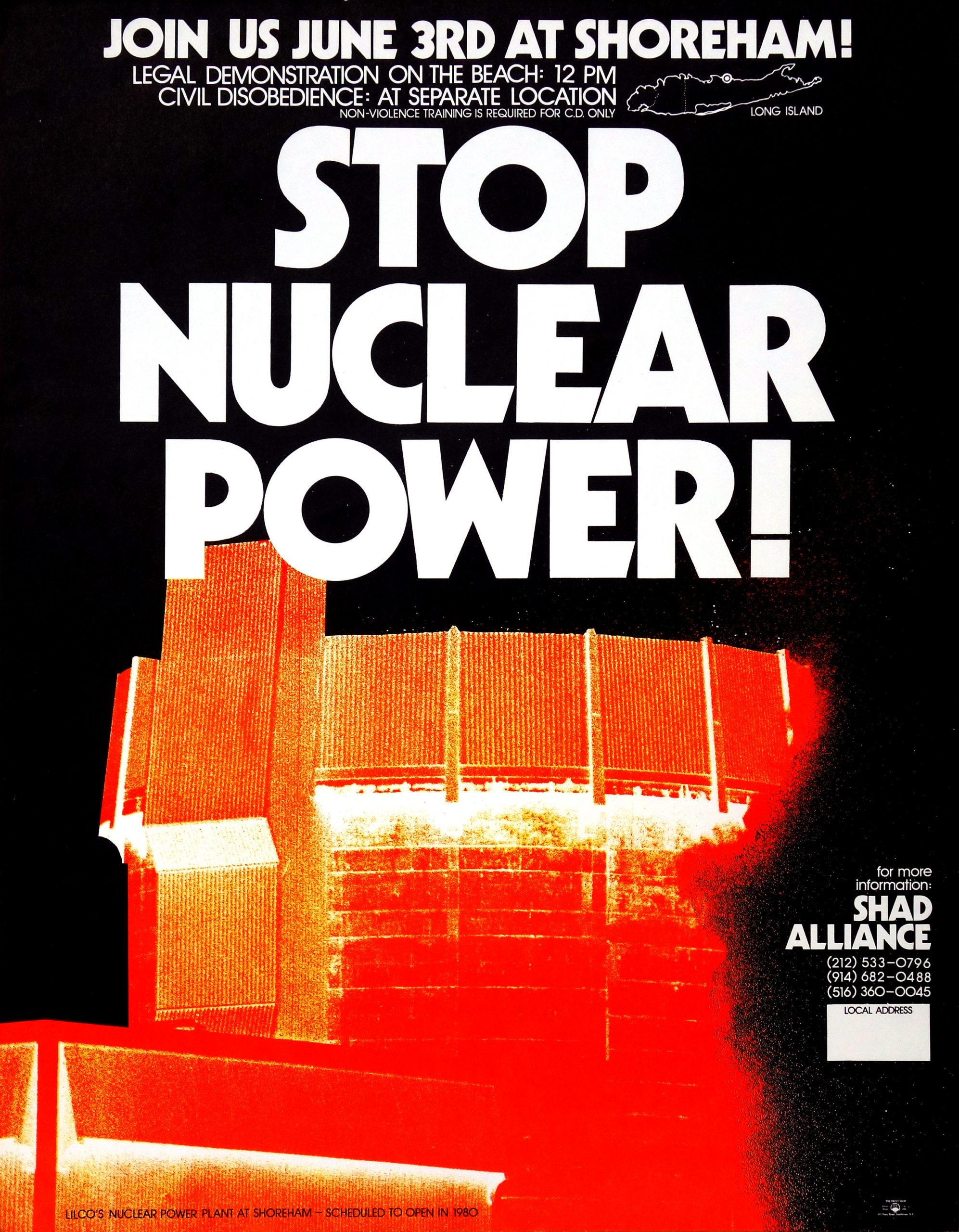 stop nuclear power shoreham poster